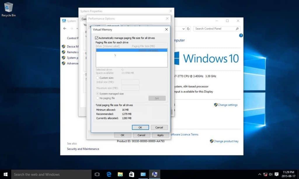 จัดลำดับความสำคัญประสิทธิภาพของ Windows