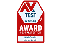 AVTest - best protection award for Bitdefender