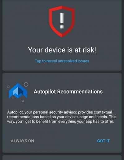 Device Status Alert